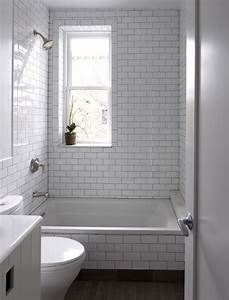 26, White, Bathroom, Tile, With, Grey, Grout, Ideas, And, Pictures
