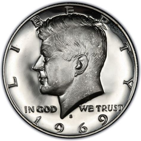value of kennedy half dollars 1969 kennedy half dollar values and prices past sales coinvalues com