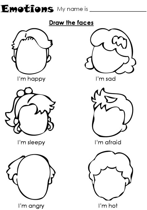 emotions  feelings coloring pages   print