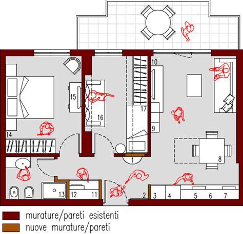 planimetria da letto progetto 50 mq architettura a domicilio 174