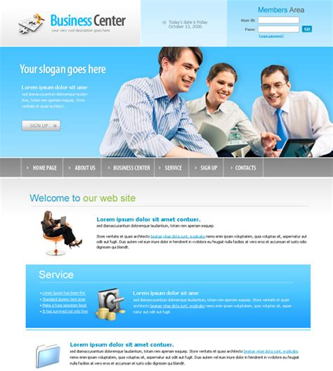 business website templates business center webpage template 6166 business website templates dreamtemplate
