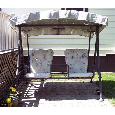 Patio Swings With Canopy Menards by Menards Two Person Charleston Swing Replacement Canopy 271