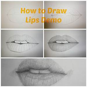 How to Draw Realistic Lips – Drawing Tutorial – Paint Into ...