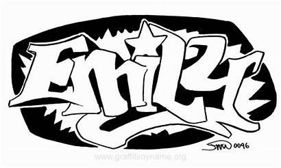 Emily Bubble Coloring Pages Names Graffiti Letters