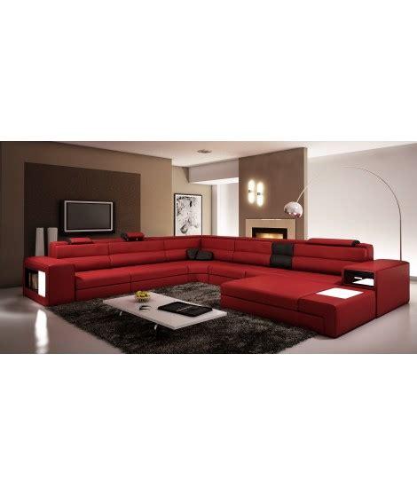 canapé panoramique en cuir