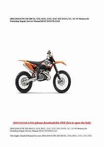 Ktm Exc 300 Service Manual