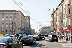 Traffic Congestion On Tverskaya Street In Moscow Editorial ...