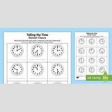 * New * O'clock And Half Past Times Activity Sheet