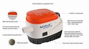 12v Seaflo Automatic Bilge Pump 750 Gph