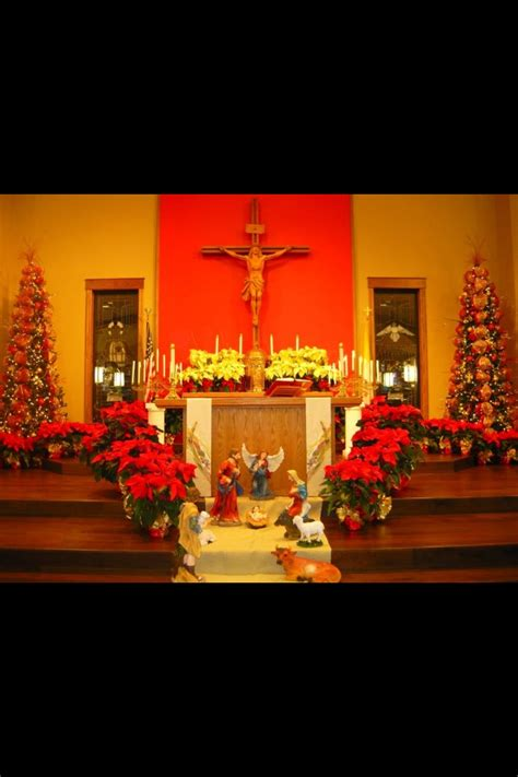 christmas decorations  st peters catholic church