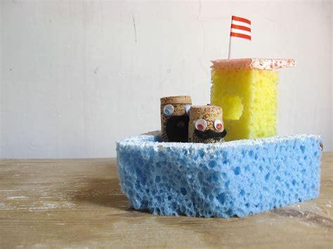 diy sponge bath boat toy handmade charlotte