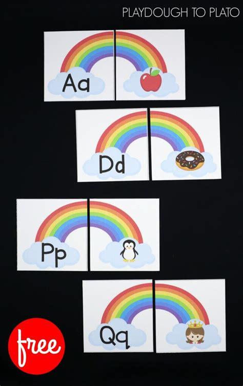 beginning sound rainbows playdough  plato