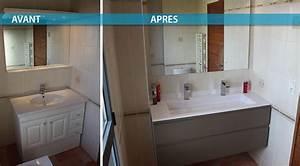 Salle De Bain Avant Après : meuble de salle de bain entre deux murs atlantic bain ~ Preciouscoupons.com Idées de Décoration