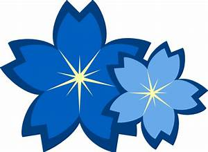 Outline Light Blue Flower Clipart - The Cliparts