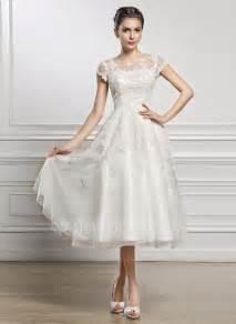 brautkleid wadenlang a linie princess linie u ausschnitt wadenlang tüll spitze brautkleid mit perlen verziert