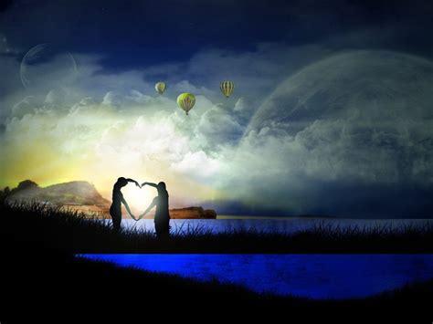 wallpaper gambar romantis membentuk jantung
