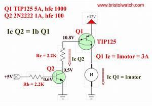 Basic Tip125 Darlington Transistor Switching Circuit