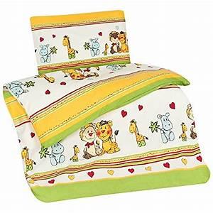 Kinderbettwäsche 100x135 Mädchen : aminata kids kinder bettw sche 100 x 135 cm zoo tier e safari waldtier e dschungel baby ~ Orissabook.com Haus und Dekorationen
