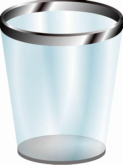 Trash Bin Clipart Garbage Recycle Glass Cup