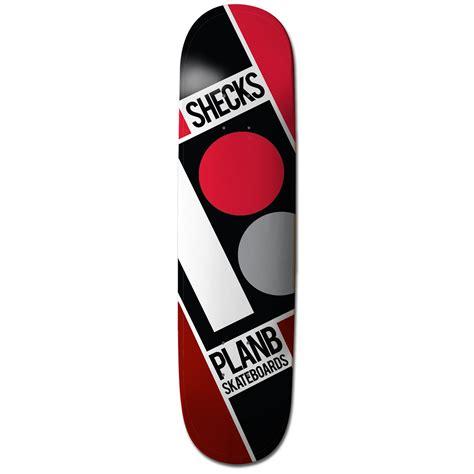 plan b sheckler slanted 7 75 skateboard deck evo