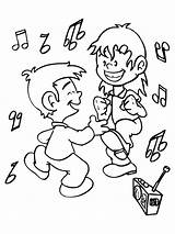 Coloring Dance Pages Dancing Children sketch template