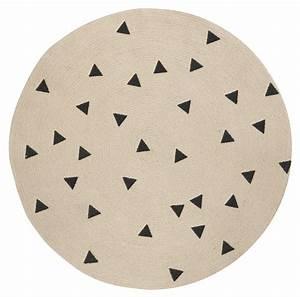 tapis triangles o 100 cm noir triangles ferm living With tapis ferm living