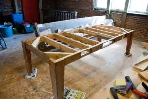 build your own table with reusable lumber