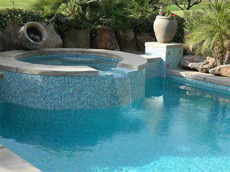 la quinta pool spa remodel spillway redesign pilaster