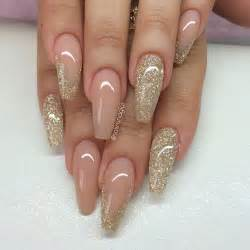 Best ideas about gold glitter nails on
