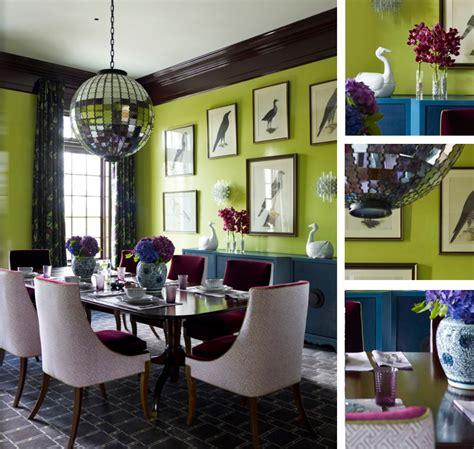 Original Fabulous Green Dining Room  Interior Design