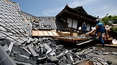 Aftershocks, widespread damage hit Japan after 6.5 ...