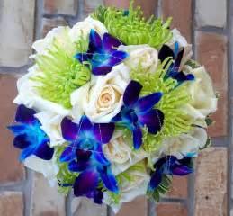 blue wedding flowers blue orchids archives bouquet wedding flower