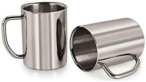List of top 10 best coffee mugs in 2021. Buy 350 ml Mug Stainless Steel Double Layered Thick Coffee Milk Tea Cup / Mug - 2 pcs Set Online ...