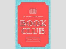 Club Flyer Templates Canva Book Club Flyer Template RQ