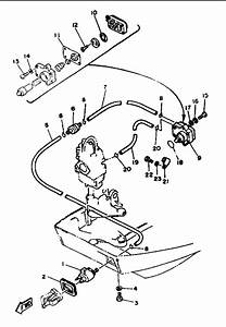 1993 Yamaha Fuel System Parts For 9 9 Hp T9 9exhr Outboard Motor