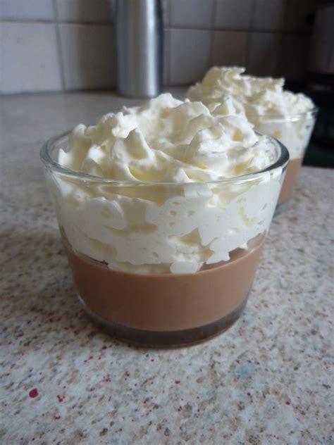 panna cotta au chocolat chantilly coco un deux trois petits plats