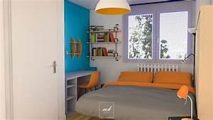 Chambre Fille Ado : deco chambre fille ado bleu ~ Teatrodelosmanantiales.com Idées de Décoration