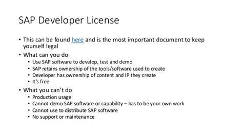 using the sap developer program to get sap software to