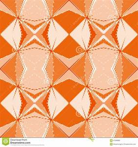 Seamless Pixelated Geometric Orange Pattern Stock ...