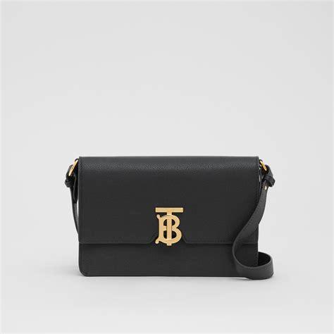 small monogram motif leather crossbody bag  black women burberry