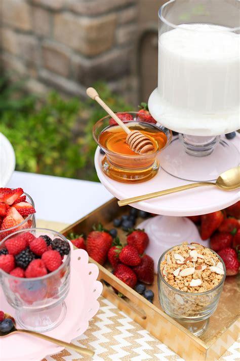 yogurt parfait bar evite