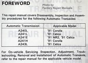 1991 Toyota Celica Corolla Mr2 Automatic Transmission