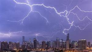 A Look At Last Nights Wild Lightning Storm Curbed Chicago