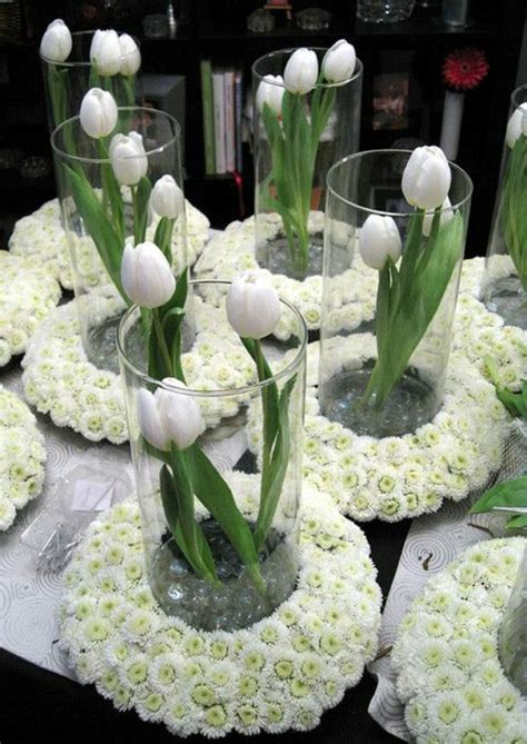 tolle ideen fuer tischdeko mit tulpen
