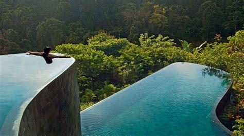 hanging infinity pools in bali hanging gardens pool infinity pools at ubud bali youtube
