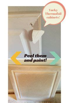 how to fix thermofoil kitchen cabinets diy peeling laminate of cabinets and repainting mdf 8660