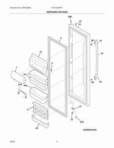 Refrigerator Door Diagram  U0026 Parts List For Model