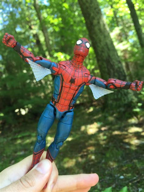 marvel legends spider man homecoming web wings review