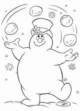 Snowman Abominable Coloring Pages Printable Getcolorings Together sketch template