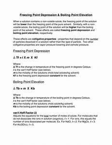 Osmotic Pressure Freezing Point Depression  U2013 Vanderhoffdesign